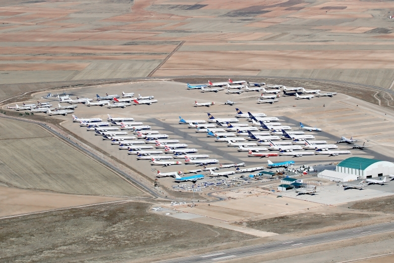 Around 110 aircraft in one photo from Teruel Airport on 14th September 2020. Image © v1images.com/ Javier Rodríguez.