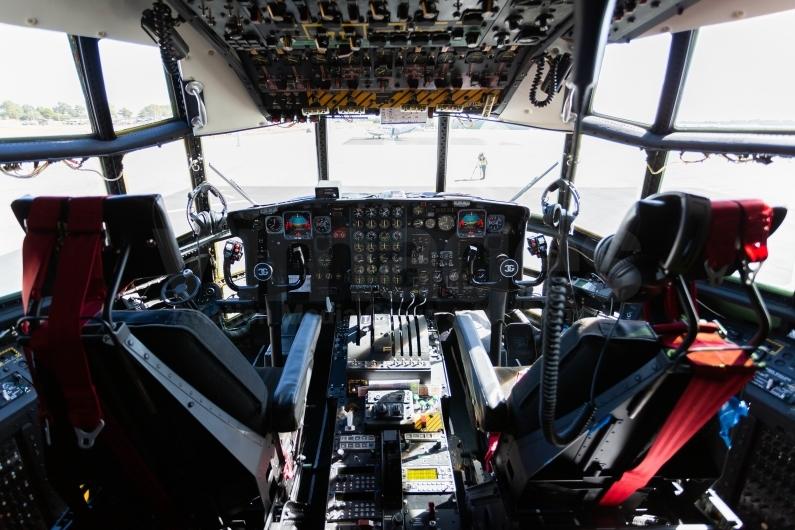 Coulson Aviation C-130H Hercules flight deck. Image © v1images.com/Joel Baverstock