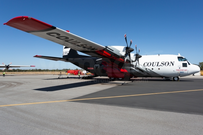 Coulson Aviation C-130H Hercules preparing for operations at Busselton Margaret River Airport, Western Australia. Image © v1images.com/Joel Baverstock